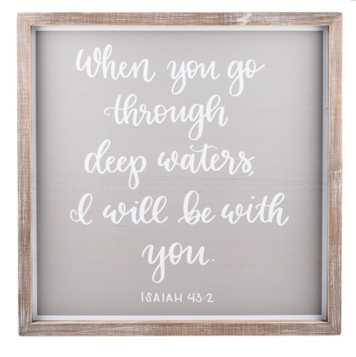 I Will Be with You Framed Board