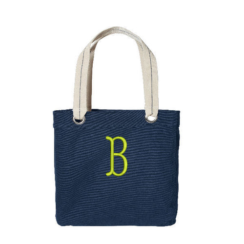 Monogrammed Allie Canvas Tote Bag Great size!