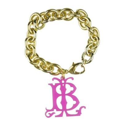 Interlocking Hatherly Cutout Charm Bracelet Hot Pink