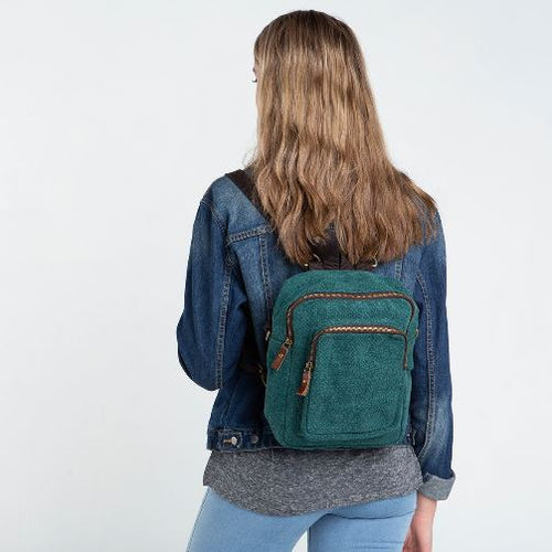 Jute Mini Backpack Choose Color Lifestyle Dark Forest