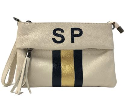 Liv Leather Clutch Beige
