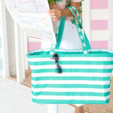 Stripe Ultimate Tote 4 Colors Mint Stripe