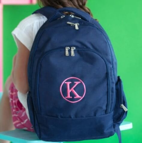Solid Color Backpacks Choose Color Navy