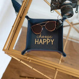 Lifestyle Navy Personalized Trinket Tray Choose Happy