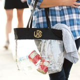 Black Clear Personalized Tote