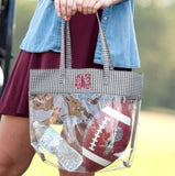 Houndstooth Clear Personalized Tote