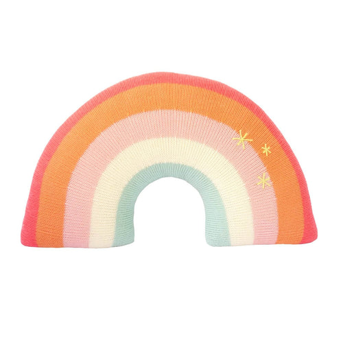 Pink Rainbow Pillow