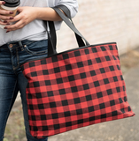 Red Buffalo Check Alley Tote Lifestyle