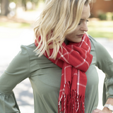 Adaline Red Buffalo Check Scarf Lifestyle