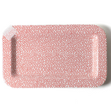 Red Small Dot Rectangle Platter