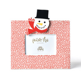 Red Small Dot Frame with Top Hat Frosty