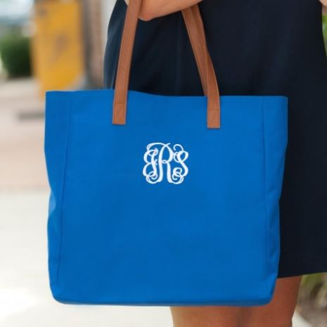 Personalized Tote Royal Blue with monogram