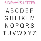 Sideways Letter Necklace Font