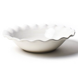 Signature White Ruffle 11inch Best Bowl Side View
