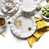 Signature White Ruffle Dinner Plate Lifestyle