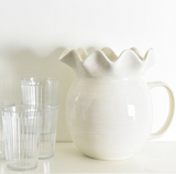 Signature White Ruffle Pitcher Lifestyle