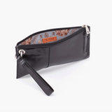 Vida Leather Clutch Black Interior View