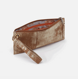 Vida Leather Wristlet Gilded Leaf Interior View
