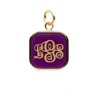 Vineyard Square Monogram Pendant Gold