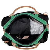 Interior View Colored Weekender Choose Color Black Emerald