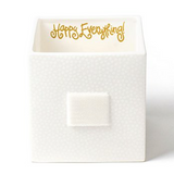 White Small Dot Mini Nesting Cube Front