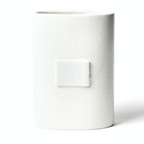 White Small Dot Mini Vase Front