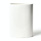 White Small Dot Mini Vase Back
