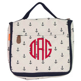 Womens Hanging Travel Kit navy anchors