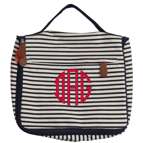 Womens Hanging Travel Kit Choose Color navy stripes