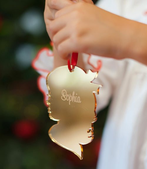 Girl Silhouette Acrylic Ornament