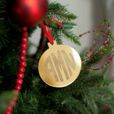 Gold Round Mirrored Acrylic Ornament