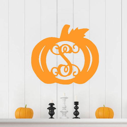 Lifestyle Pumpkin Wood Monogram