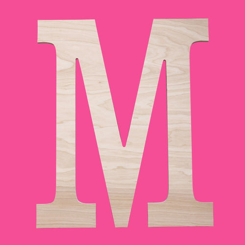 Classic Single Initial Wood Monogram