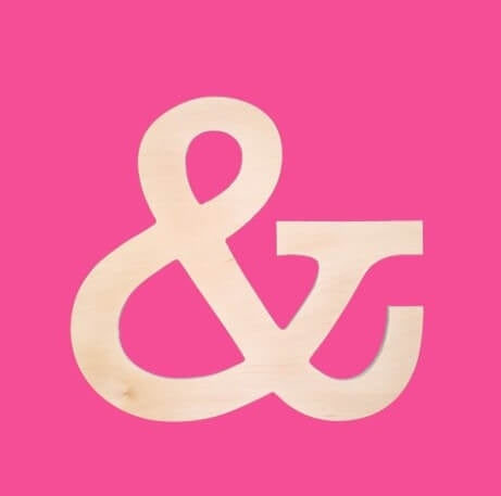 Ampersand Wood Symbol