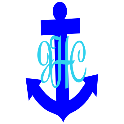 Anchor Monogrammed Decal