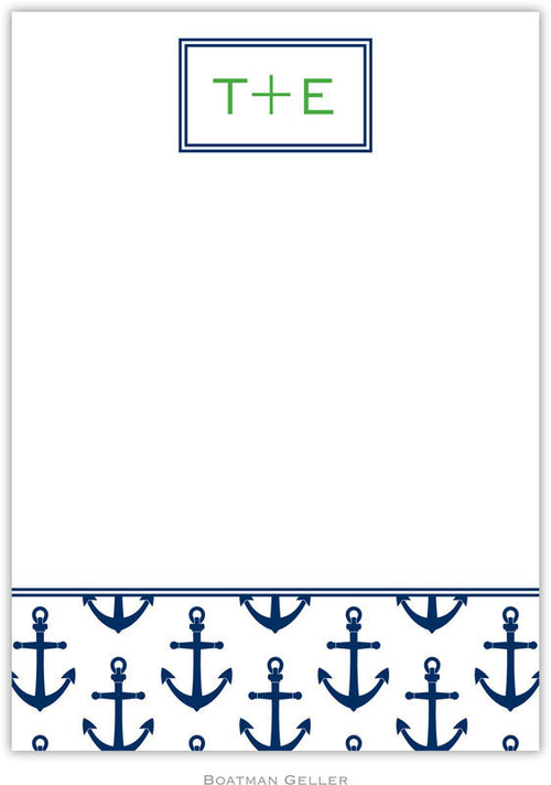 Anchors Navy Personalized stationery