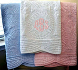 Classic Quilted Personalized Baby Blanket