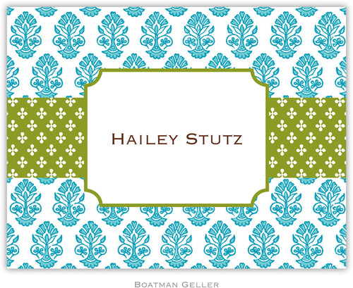 Beti Teal Personalized stationery