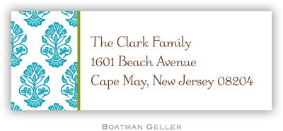 Beti Teal Personalized Address Label