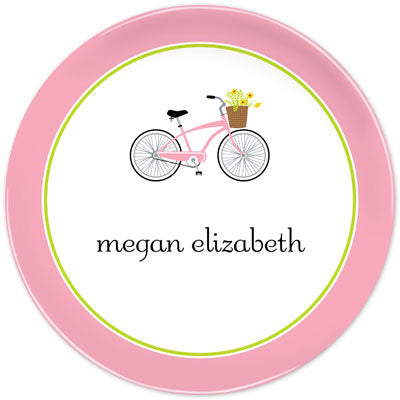 Set of 2 Personalized Plate Bicycle