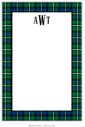 Black Watch Plaid notepads