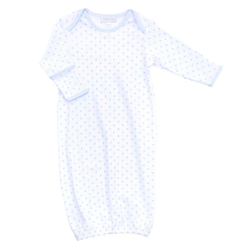 Personalized Blue Gingham Dots Lap Gown