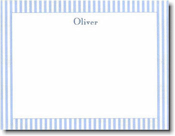 Blue Seersucker Personalized stationery