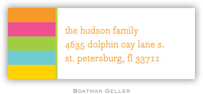 Bold Stripe Personalized Address Label