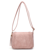 Monogrammed Braided Front Saddle Bag-Choose Color