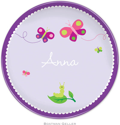 Set of 2 Personalized Plate Butterfly