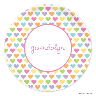 Set of 2 Personalized Plate Candy Hearts