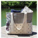 Lifestyle Navy Anchors and Navy Stripes