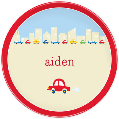 Set of 2 Personalized Plate Cars