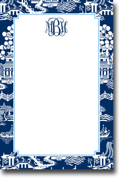 Chinoiserie Navy notepads